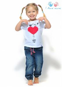 "Picture of T-shirt children's ""I love Mum"" white print Bird"