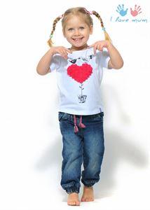 "Picture of T-shirt children's ""I love Mum"" white print Bird"