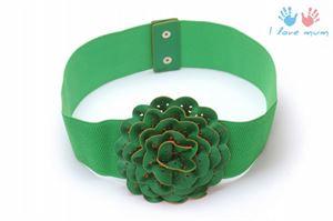 Bild von R3 Gurt grün mit Blume