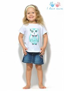 "Picture of T-shirt children's ""I love Mum"" white owl"