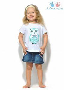 "Picture of T-shirt children's ""I love Mum"" white owl"