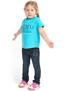 "Picture of T-shirt children's ""I love Mum"" emerald/Family"