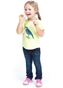 "Picture of T-shirt children's ""I love Mum"" lemon/poultry"