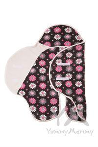Image de Enveloppe polaire (poches) Camomille rose pour les enfants de 0 à 12 mois