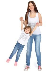 """Bild von """"I Love Mum"""" Baby T-Shirt whiß mit Bunten"""