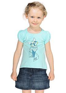 Изображение Футболка детская ФХ01 голубая   с лисой