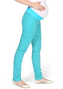 "Picture of ""Nereza"" Maternity turquoise pants 2 in 1"