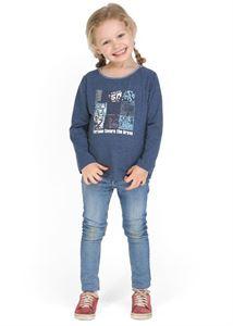 """Bild von """"Modern"""" Pullover blau Melange"""