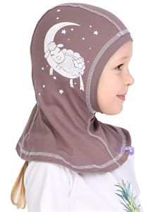 Picture of Knitwear Helmet Hat beige with a lamb