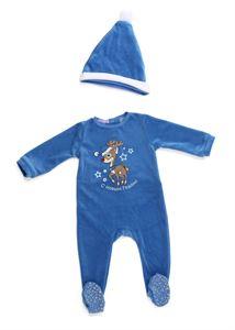 """Image de Salopette pour enfants de Velour """"Timba""""; couleur: bleu"""