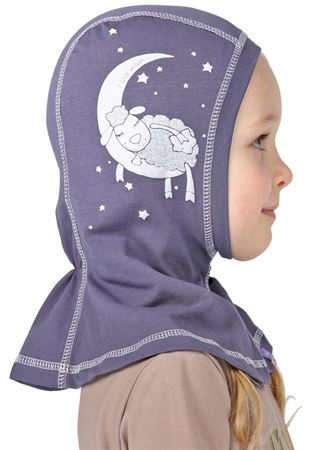 Picture of Knitwear Helmet Hat Indigo with sheep