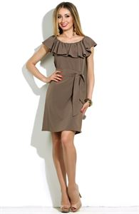 Picture of Dress-DSP-16-50 gray khaki with flounce