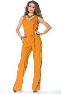 Picture of Jumpsuit DSKM-02-45 mustard