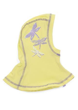 Picture of Knitwear Helmet Hat lemon with dragonflies