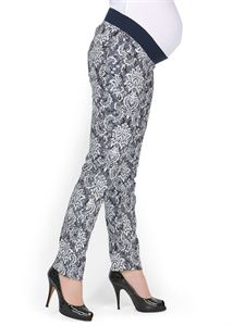 "Picture of ""Belita"" Maternity indigo pants 2 in 1"