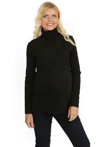 Picture of Turtleneck Glamour black for maternity and nursing