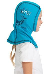 Picture of Knitwear Helmet Hat turquoise giraffe