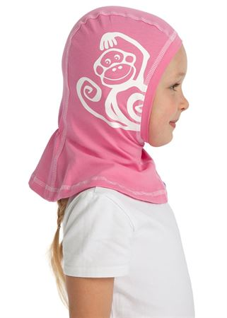 Picture of Knitwear Helmet Hat pink with monkey
