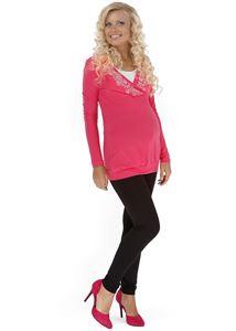 """Obrázek Kalhoty """"Velma"""" pro těhotné; barva: černé"""