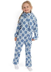"Picture of Jumpsuit fleece ""Classic"" white with snowflakes"