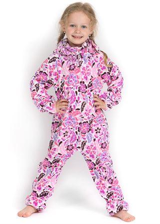 "Picture of Jumpsuit fleece ""Classic"" purple flowers"