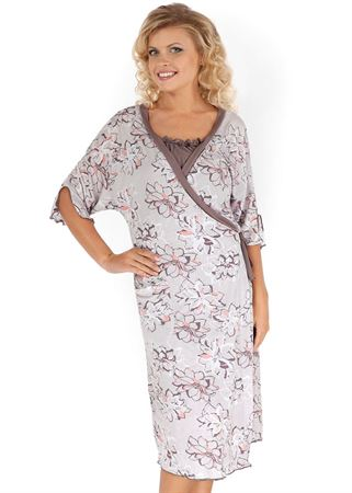 """Picture of """"Alma"""" Maternity a grey set with flowers"""