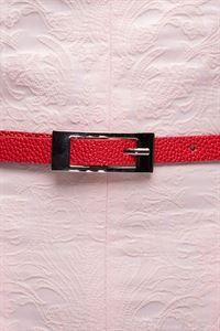 Obrázek Řemen úzký  DM00503RD červený textura