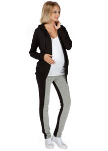 "Picture of ""Lavern"" Maternity grey-black insulated leggings"
