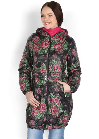 "Picture of Jacket Demi-season ""Voila"" black with roses"