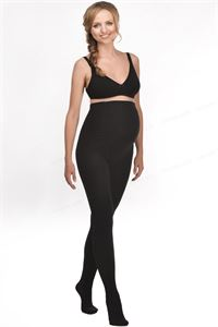 Picture of Maternity terry-loop tights 400 DEN in black, mod. 608