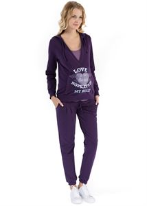 "Picture of ""Oliver"" Maternity purple suit"