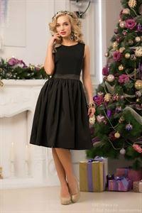 Изображение Платье DM00075BK коктельное черное ретро длины миди