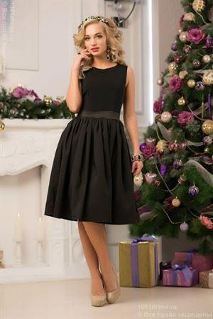 Obrázek z Šaty DM00075BK koktejlové černé retro délky midi