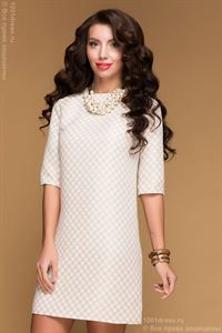 Picture of Dress beige DM00483BG in cell length mini
