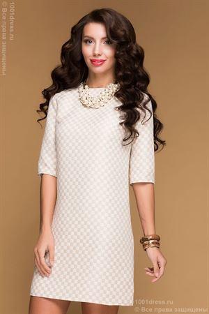 Picture of Dress beige DM00483BG in cell length mini