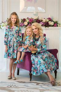 Bild von DM20008LB Baby Kleid mit Blauen und Rosa Farben