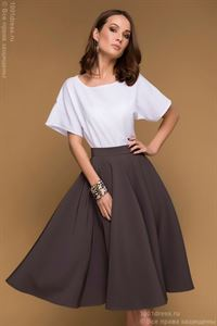 Picture of Skirt DM00438MO mocha MIDI length