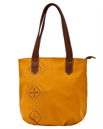 Picture of Bag women's Bagsland 2374-08110 mustard with perforation