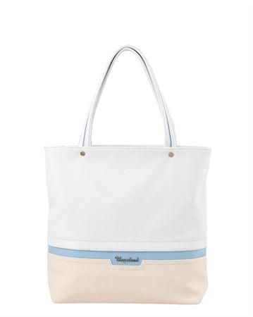 Picture of Bag ladies Bagsland 2359-15112 white beige blue