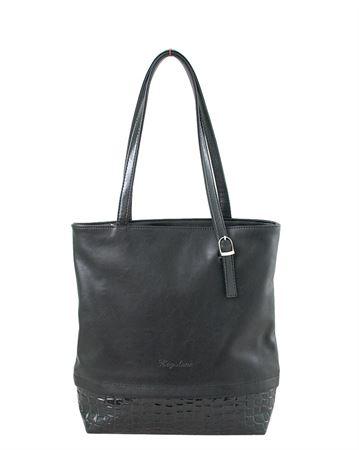 Picture of Bag ladies Bagsland 2373-00111 black reptile