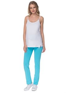 "Picture of Pants ""Zita"" turquoise for pregnant women, the usual"