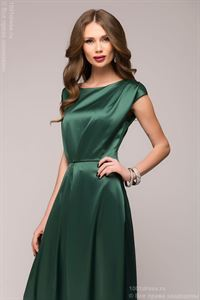Picture of DM00559EM emerald dress Maxi length with short sleeves