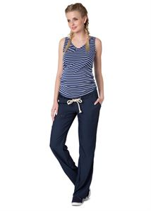 """Picture of """"Kameron"""" Maternity dark jeans 2 in 1"""