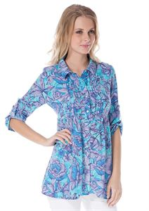 "Picture of Blouse ""Aurora"" blue maternity and nursing"
