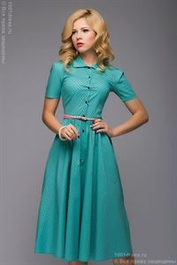 Picture of DM00624MN Dress mint MIDI length shirt top