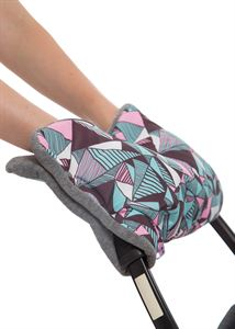 Picture of Baby Stroller Hand Muff In pink geometry