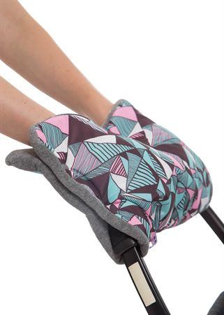 Bild von Kupplung für die Hände auf den Kinderwagen rosa geometrie