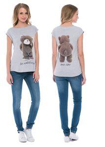 """Obrázek Tričko """"Christina"""" melanž s medvědem pro těhotné"""