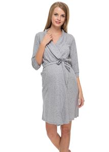 """Picture of """"Sitel' Maternity melange  dressing gown"""