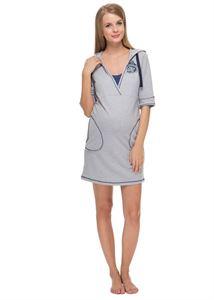 """Изображение Платье домашнее """"Фока"""" меланж для беременных и кормящих"""